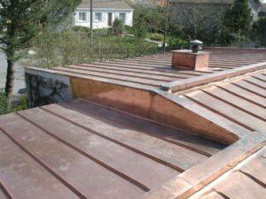 Couverture en cuivre naturel
