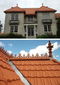 Couverture tuiles Franche Comté avec faitage décoratif