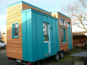 Tiny house bleu turquoise
