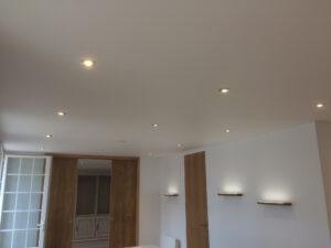 plafond tendu à chaud