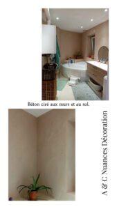 salle de bain en béton ciré